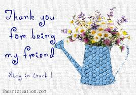 thank you friend free stay in touch ecards greeting cards 123