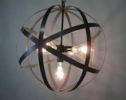 Orb Ceiling Light Rustic Industrial Orb Ceiling Light Sphere 18 Diameter