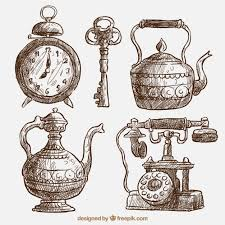 pack of beautiful sketches of ancient artifacts vector free download