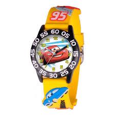disney pixar cars lightning mcqueen 3d yellow strap watch toys
