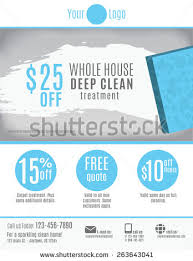 cleaning service flyer template discount coupons stock vector