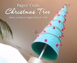 paper cone christmas tree diy craft celebrating holidays
