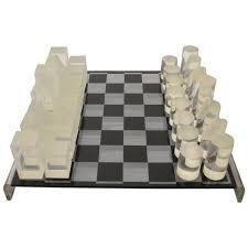 1970s modern lucite chess set at 1stdibs
