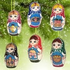 christmas ornaments matryoshka motives ornaments sets russian