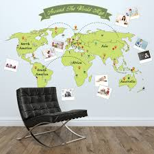 wall stickers uk wall art stickers kitchen wall stickers ws12013 around the world personalise map