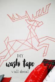 washi tape diy paying tribute to santa u0027s reindeer diy washi tape wall decal motte