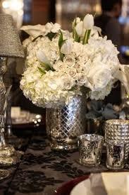 Silver Vases Wedding Centerpieces Mercury Glass Vase Filled With Blushed Centerpiece Juliette