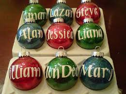12 personalized ornaments merry