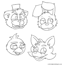 fnaf mangle coloring pages five nights at freddys fnaf bonnie foxy mangle coloring pages