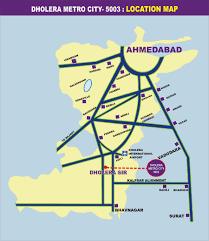 Gujarat India Map by Location Dholera Metro City Gujarat India