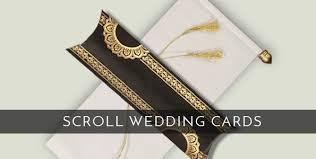 Scroll Wedding Cards Design With Price Wedding Cards Indian Wedding Invitations 123weddingcards
