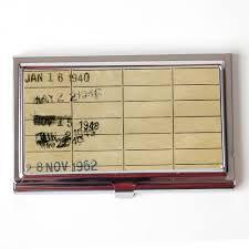 Vintage Business Card Case Vintage Library Card Business Card Case Book Business Card