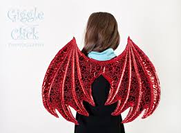 Red Wings Halloween Costume Gold Pair Dragon Wings Donated Child