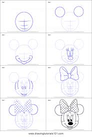 draw minnie mouse face mickey mouse clubhouse