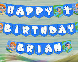 Bubble Guppies Birthday Decorations Guppies Decoration Etsy