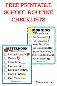 printable evening schedule after school job chart free printable school checklist free