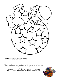 pas de carnaval sans clown kids colouring clip art and craft
