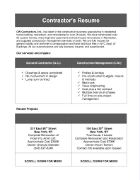 Best Construction Resume by Charming Ideas General Contractor Resume 10 Sample Construction
