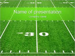 football field powerpoint template american football field