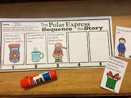 polar express sequence the story worksheet activity students cut