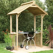 wooden garden patio bbq party canopy shelter westmount living