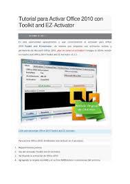 tutorial para activar office 2010 con toolkit and ez