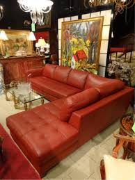 Natuzzi Red Leather Chair Red Leather Sectional Sofa 2 Pc Right Hand