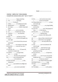 simple past tense to be  was were  students have to put was  were in each sentence  you can ask students to answer this exercise or give it as homework  Pinterest