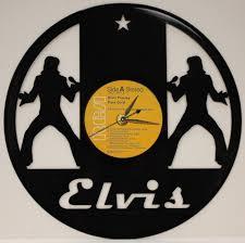 elvis presley 2 laser cut vinyl lp record wall clock free