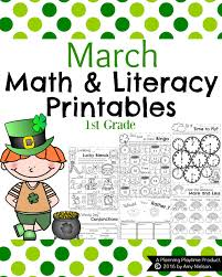 First Grade Math Printable Worksheets March First Grade Worksheets Planning Playtime