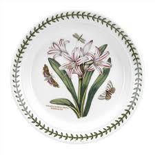 portmeirion botanic garden seconds 8 inch plate belladonna lily