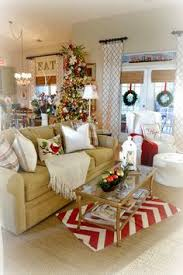 White Christmas Kitchen Decor by Cozy Rustic Christmas Cottage Living Room Cottage Living Rooms