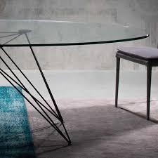 oval glass dining table pesaro large oval glass dining table robson furniture