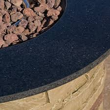 Fire Pit With Lava Rocks - rogers outdoor round 40 000 btu liquid propane gas fire table