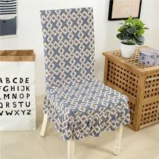 Dining Seat Covers Online Shop Modern Geometric Leaves Printing Spandex Stretch