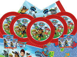 paw patrol boy birthday party kits sets tableware plates cups