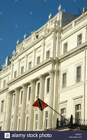 Flag For Trinidad And Tobago Embassies In Belgrave Square London With Trinidad And Tobago Flag