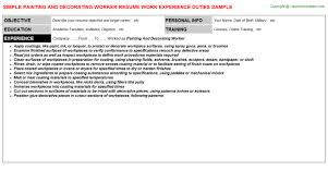 Courses For Painting And Decorating Painting And Decorating Worker Job Title Docs