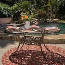 Copper Patio Table Gdf Studio Cast Aluminum Outdoor Oval Dining