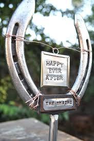 personalized horseshoe horseshoe wedding cake topper isure search
