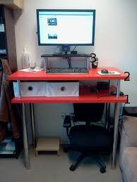 big red standing desk ikea hackers ikea hackers