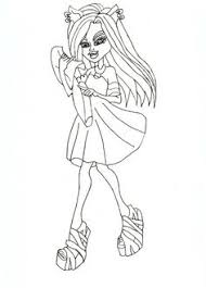 monster high clawdeen wolf coloring pages monster high spectra vondergeist with pets coloring pages