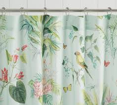 Shower Curtain Lia Palm Shower Curtain Pottery Barn