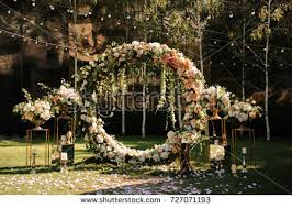 wedding ceremony arch wedding wedding ceremony arch arch decorated stock photo 727071193