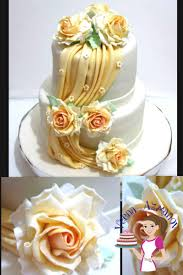 wedding cake tutorial how to make fondant drapes on cakes tutorial veena azmanov
