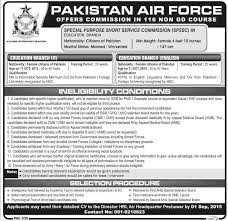 Govt Jobs Resume Upload by Pakistan Air Force Paf Jobs Spssc Education Branch August 2015