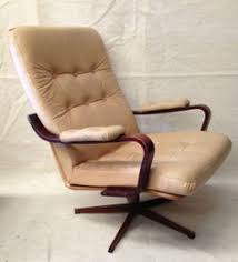 Swivel Reclining Armchair Vintage Robin Day Swivel Chair Study Office Beige U0026 Brown Height