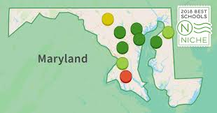 Maryland On A Map 2018 Best Districts In Maryland Niche