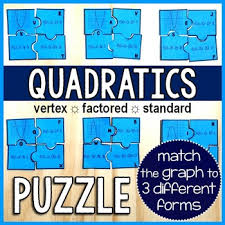 in this puzzle activity students match a parabola to 3 forms of