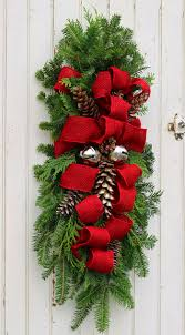 Red Ribbon Door Decorating Ideas Decoration Fantastic Accessories For Christmas Decoration Using